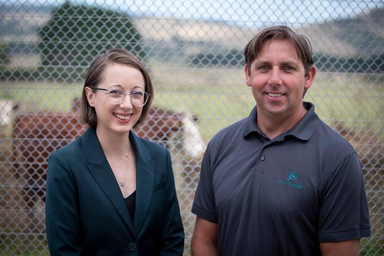 Ora Pharm co-founders Zoe and Karl Reece.